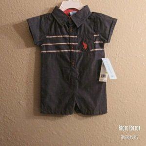 NWT infant romper U.S. Polo size 3/6 mos